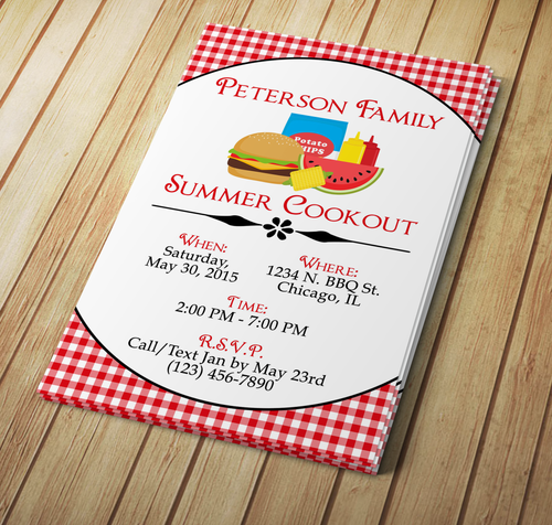 Summer Cookout Invite - Download & Edit Template - Creative By Design Group
