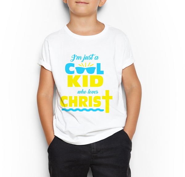 Cool Kid Who Loves Christ Shirt Design - Print-Ready Template