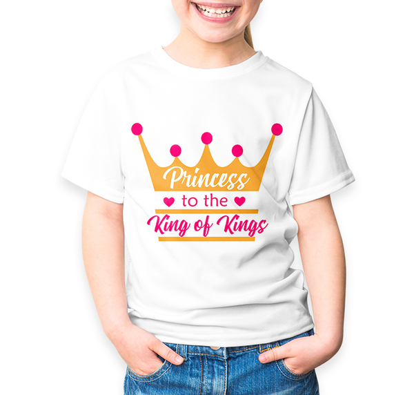 Princess to the King of Kings Shirt Design - Print-Ready Template