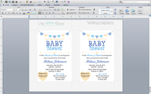 Microsoft Word Hearts Baby Shower Invitation Template