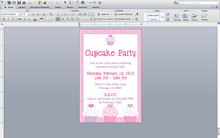Bakery flyer or cupcake party invitation