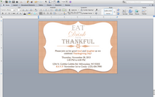 Eat, Drink & be Thankful Invite - Download & Edit Template - Creative By Design Group