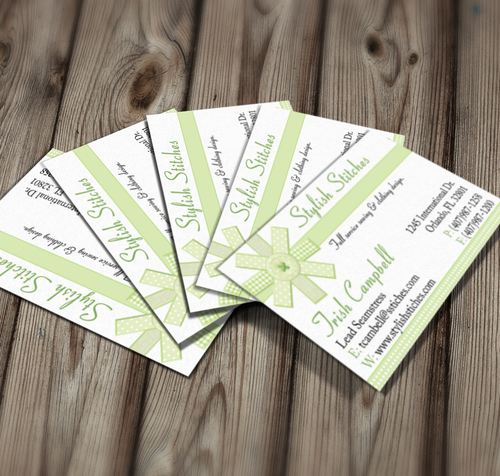 Microsoft Word Seamstress Business Card Template