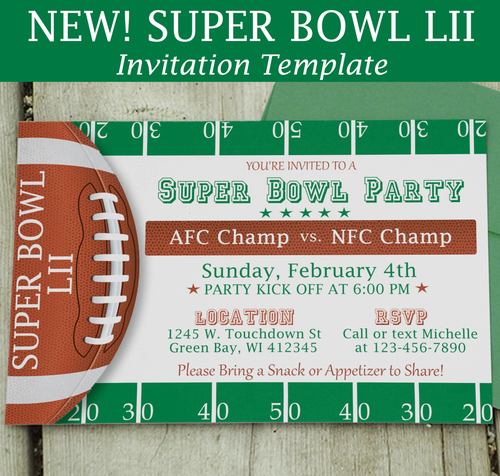 Super Bowl Templates and Printables – Super Bowl Party Invitation Template