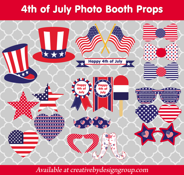 4th of July Photo Props - Download & Print