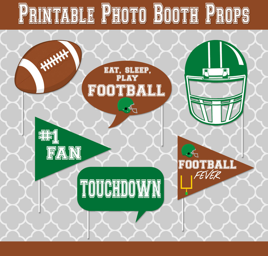 Football Photo Props - Print-Ready Template - Creative By Design Group