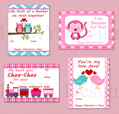 Printable Valentines Day Kids Cards