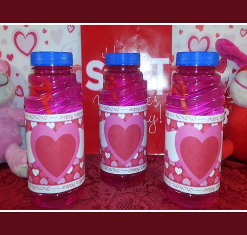 Printable Valentines Day Bubble Bottle Wrapper