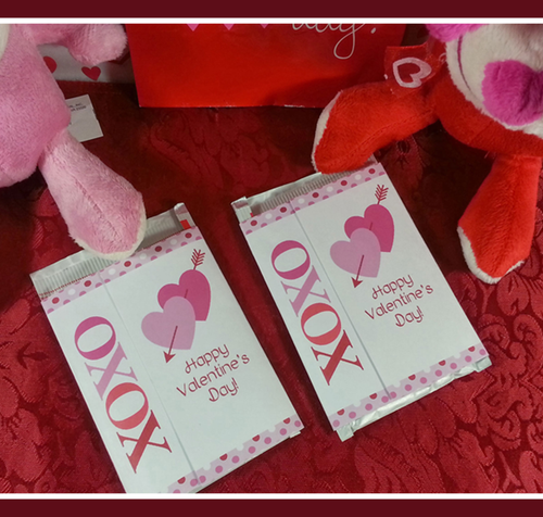 Printable Valentines Day Hot Coco Wrappers