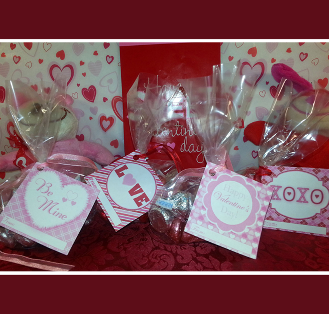 Printable Valentines Day Treat Bag Tags