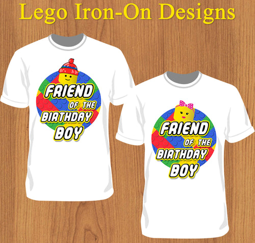 Friend of the Lego Birthday Boy Shirt - Print-Ready Template - Creative By Design Group