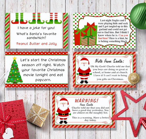 Shelf Elf Printable Cards