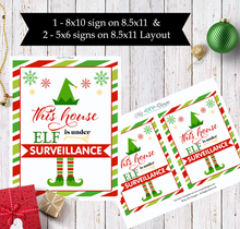 Shelf Elf Surveillance Sign - Print-Ready Template - Creative By Design Group