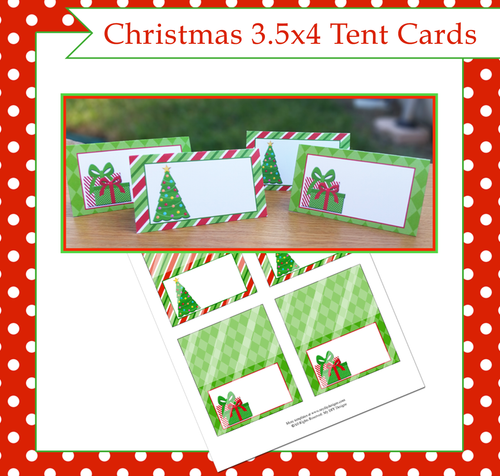 Christmas Foldable Tent Card