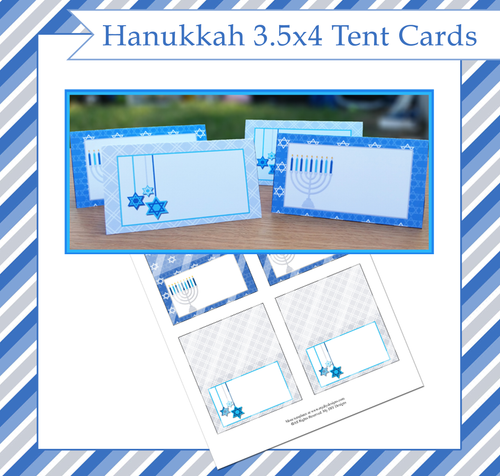 Hanukkah Foldable Tent Card