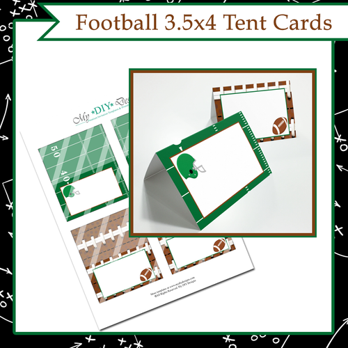 Football Foldable Tent Card - Print-Ready Template