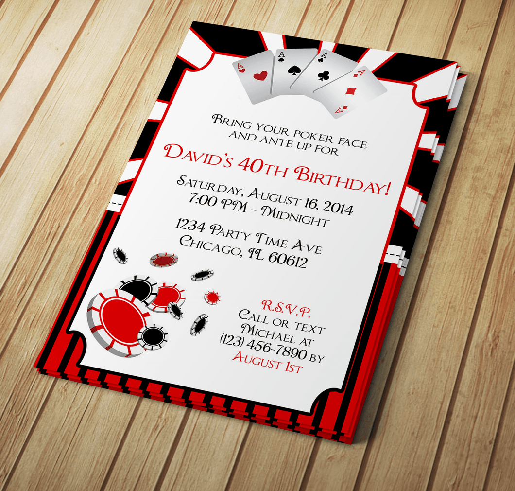 Microsoft Word Poker Party Invitation Template | Creative By Design ...