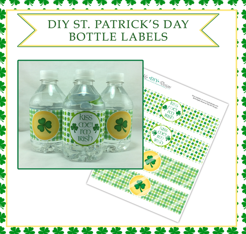 Printable St. Patrick's Day Water Bottle Labels
