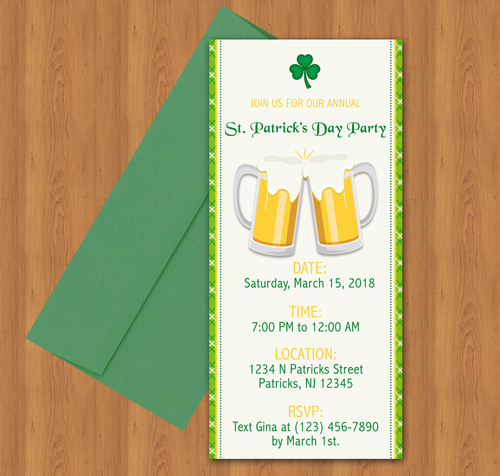 Microsoft Word St. Patrick's Day Invitation Template