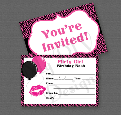 Printable Zebra Print Invitation