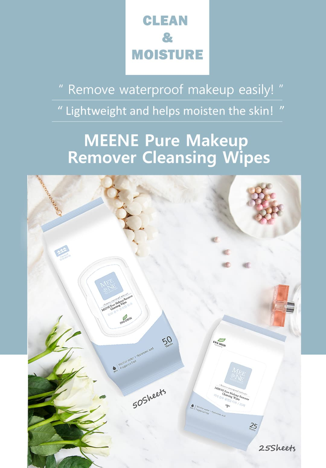 RICO Meene Makeup Remover Wipes