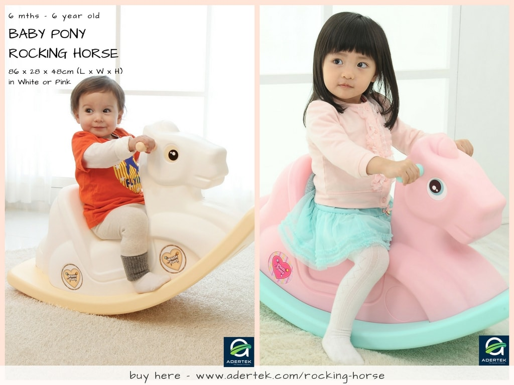 Rocking Horse in Pink or White