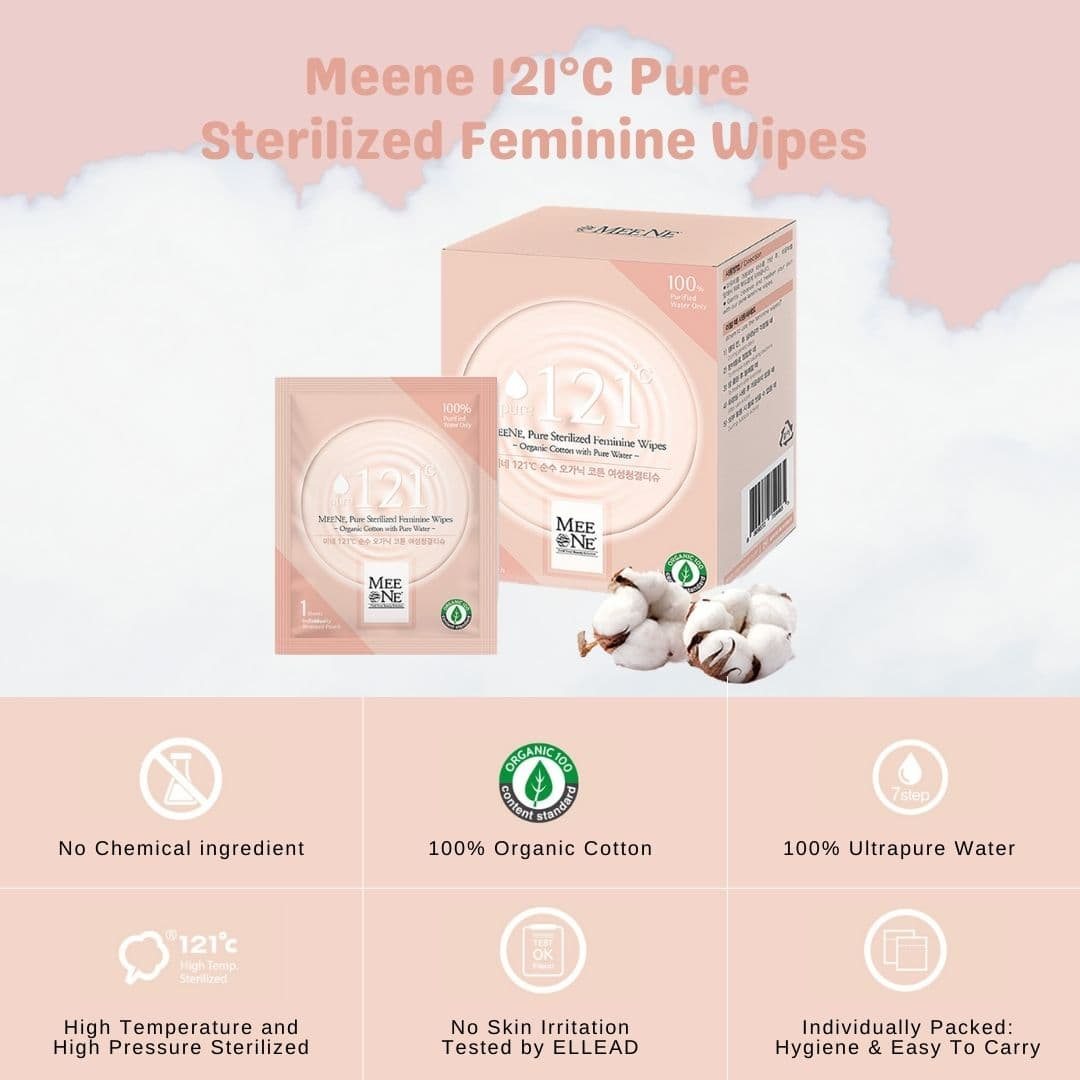 Meene Individually Packed Sterilized Feminine Wipes Product Highlights