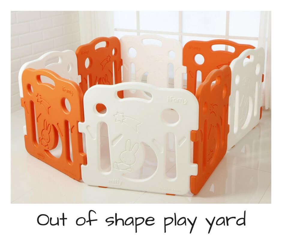 Out of shape play yards