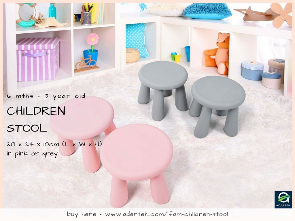 IFAM Children Stool - Pink or Grey