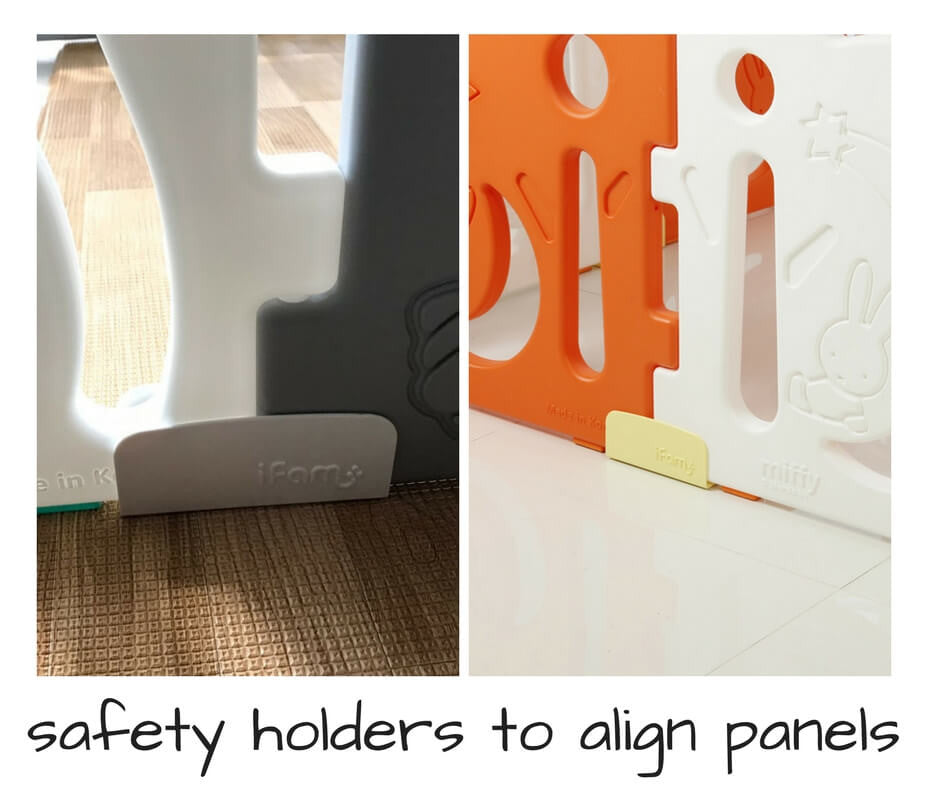 Play yard with safety holders