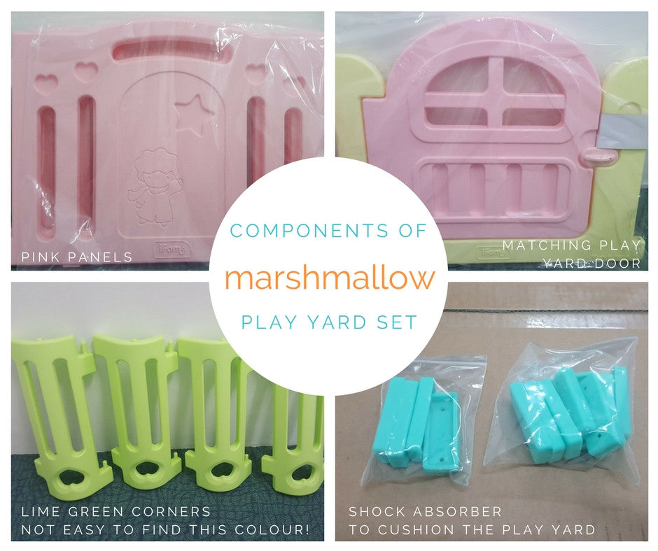 Components of a play yard set