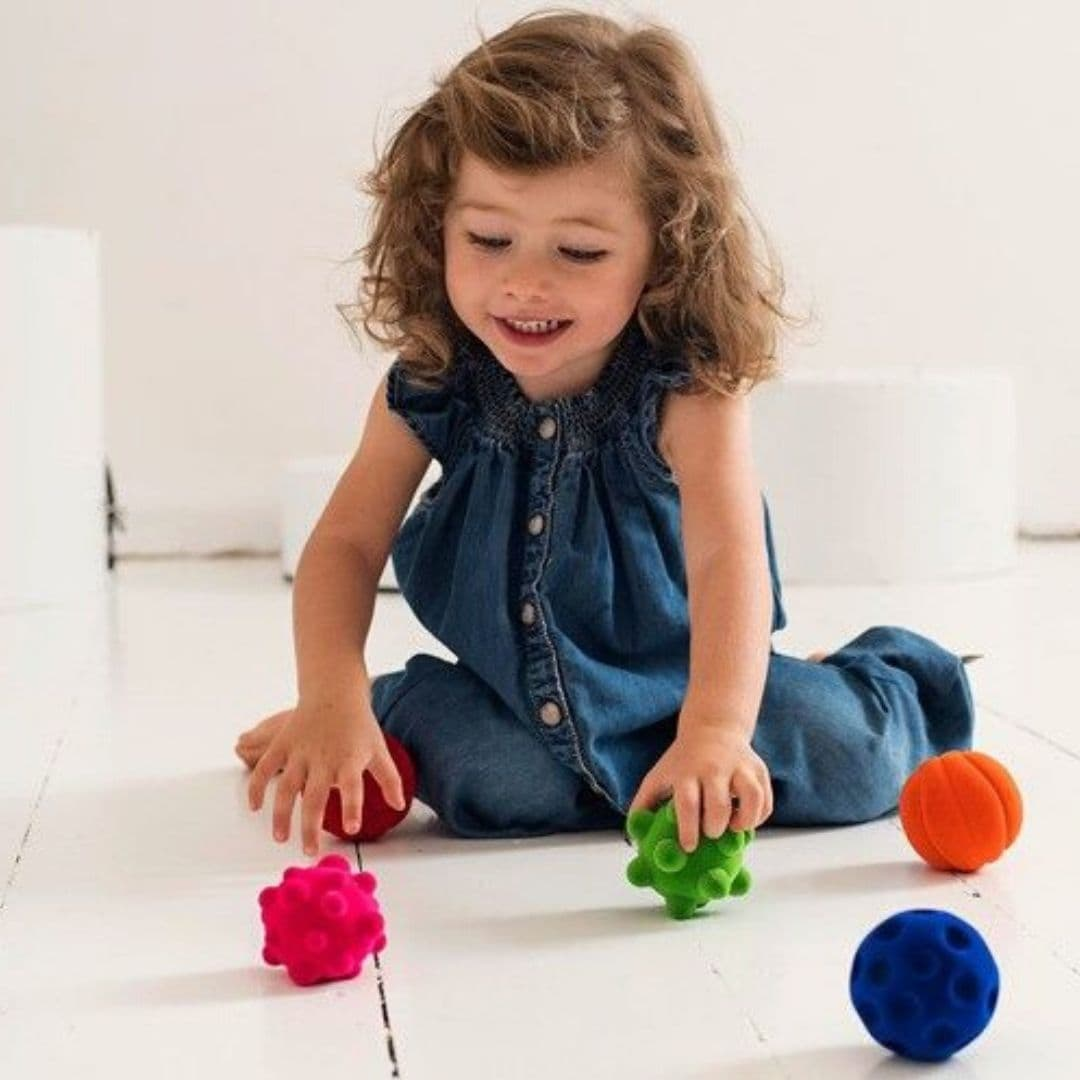 Rubbabu simple designs promote imaginative play and encourage kids to grasp, push, and move!
