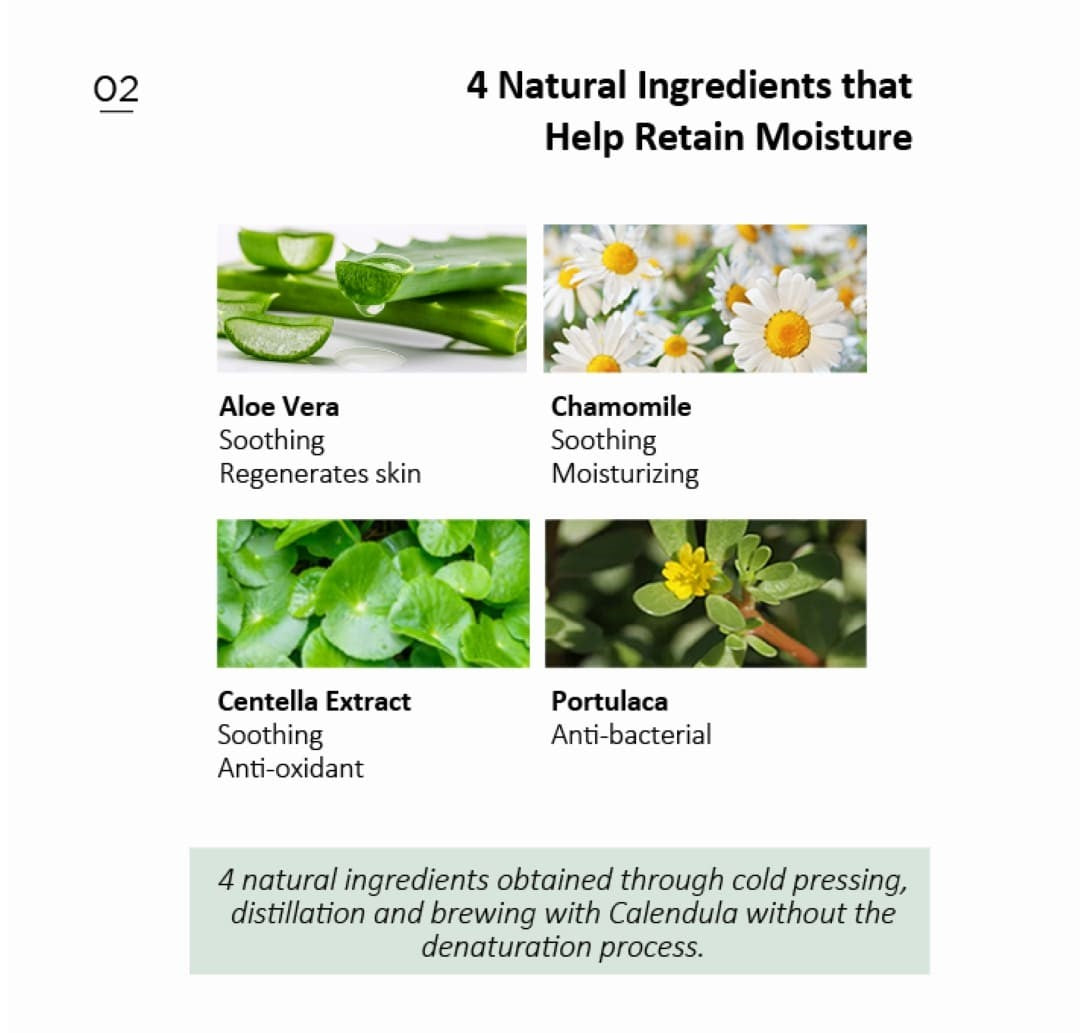 Natural Ingredients - 4 natural ingredients are derived by cold-pressing method to retain the quality of extracts