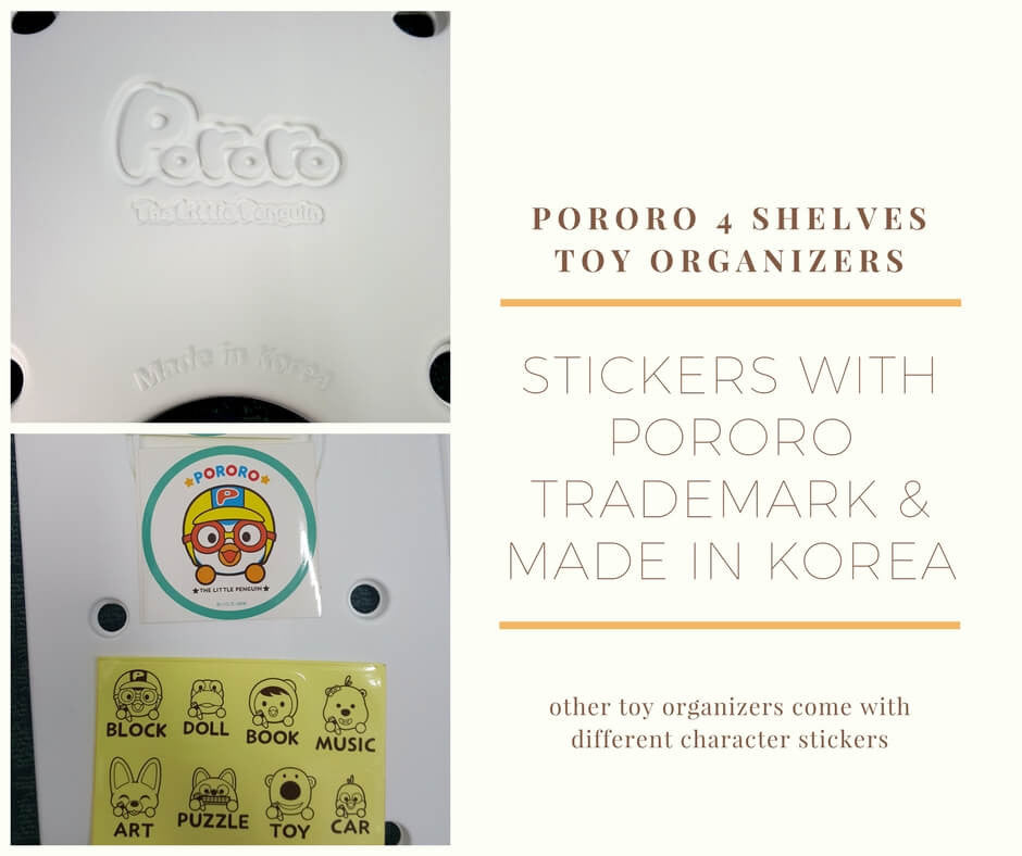 Pororo Trademark, stickers and Made In Korea