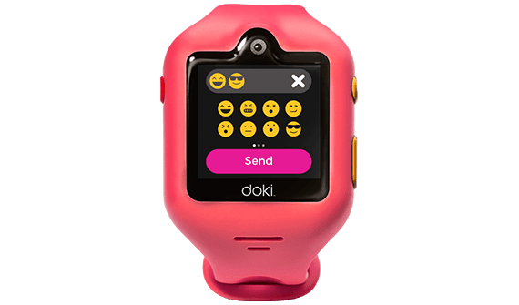 dokiWatch S allow your child to send messages via emojis