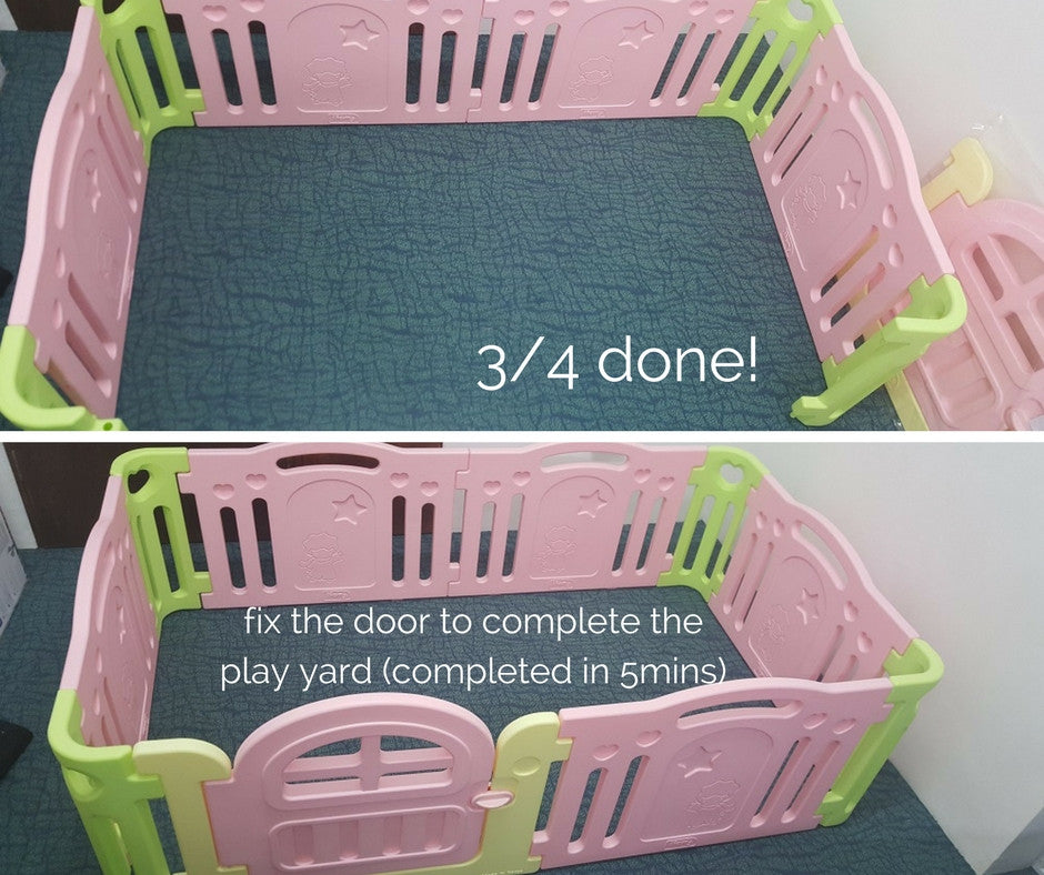 Play yard assembly completed