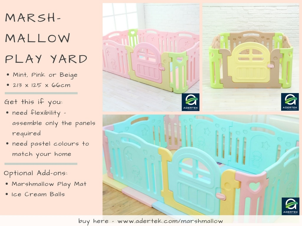 IFAM Marshmallow Play Yard comes in 3 colours