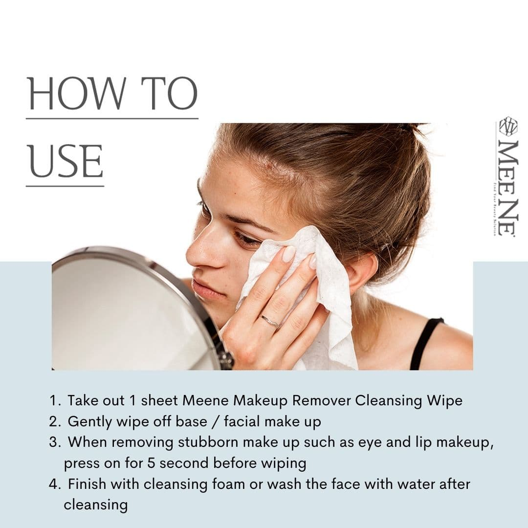 How To Use Meene Makeup Remover Cleansing Wipes