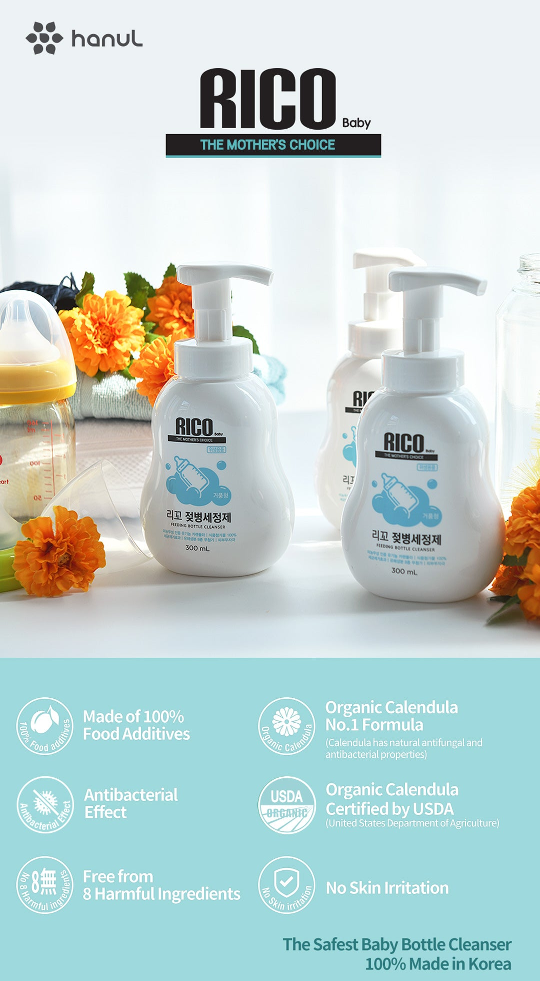 RICO Baby Bottle Cleaner Highlights