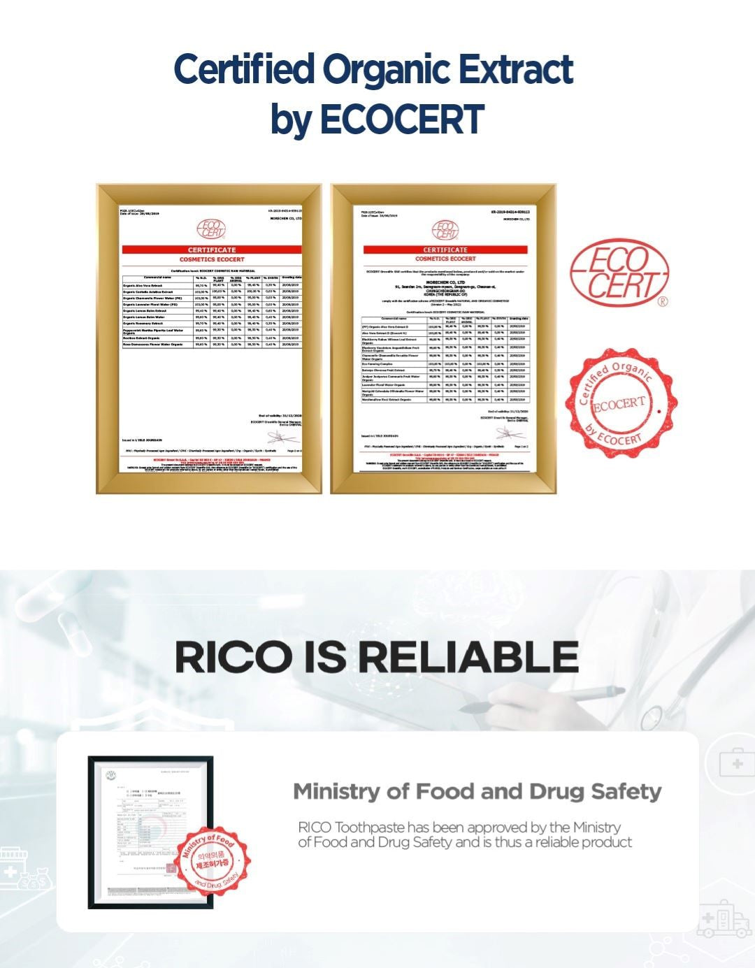 RICO Kids Toothpaste Certification