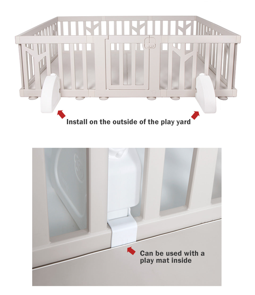 Can be used with Birch Baby Play Yard + play mat setup