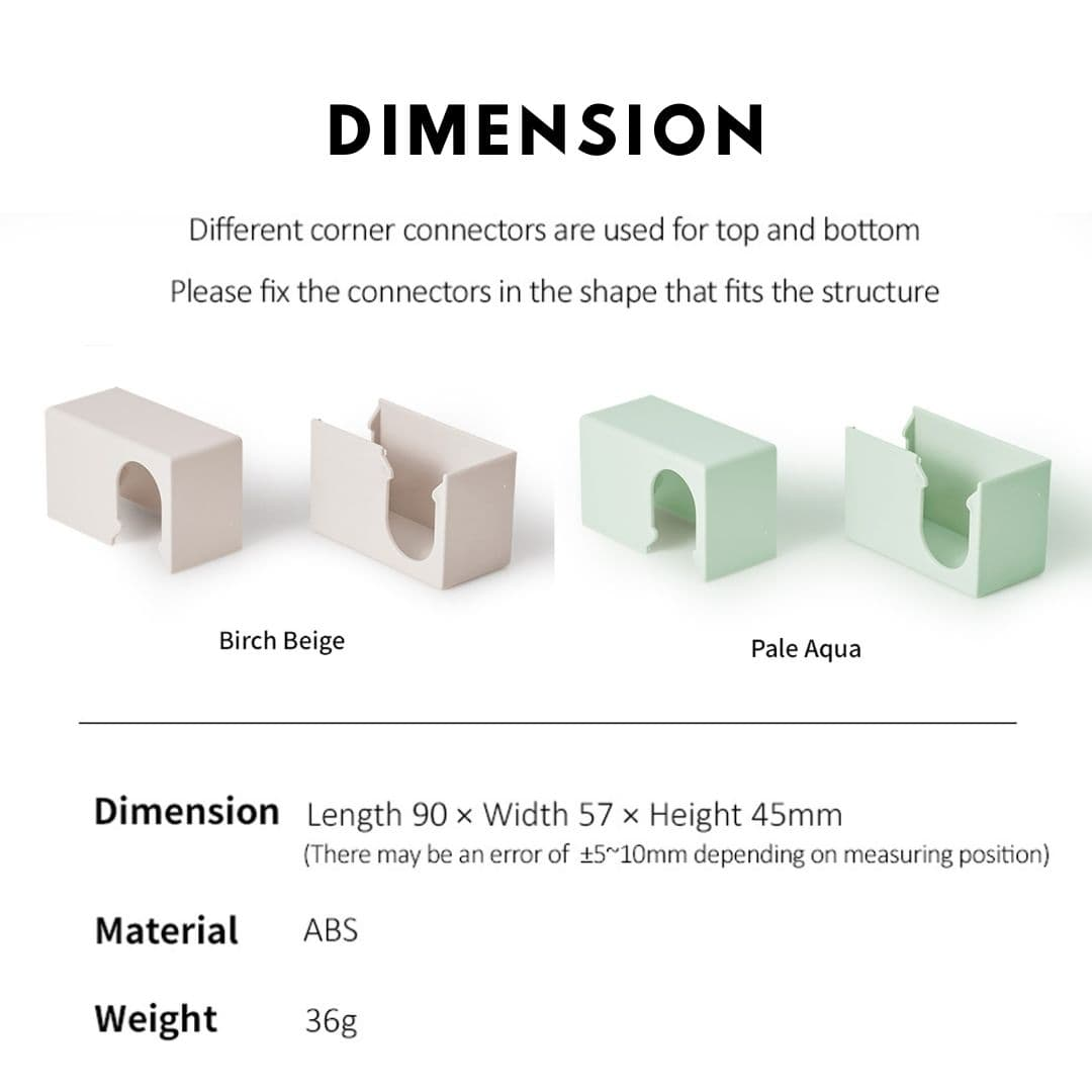 Takemehom First Partition Corner Connectors Dimension