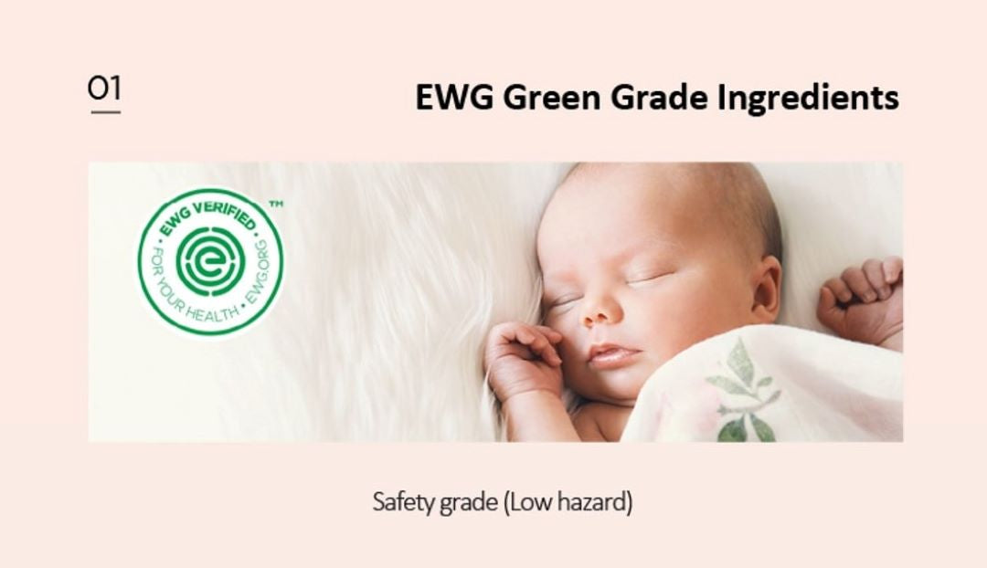 EWG Verified - All ingredients used EWG Green Grade to be sure it's free from harmful chemicals