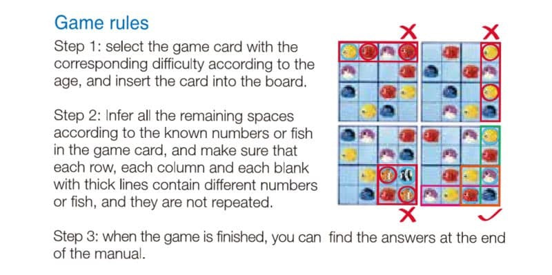 Magnetic Sudoku Game Tropical Fish Game Rules