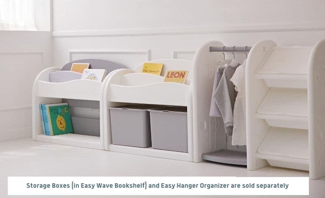 Easy Wave Bookshelf Fit Perfectly With Easy Hanger Organizer