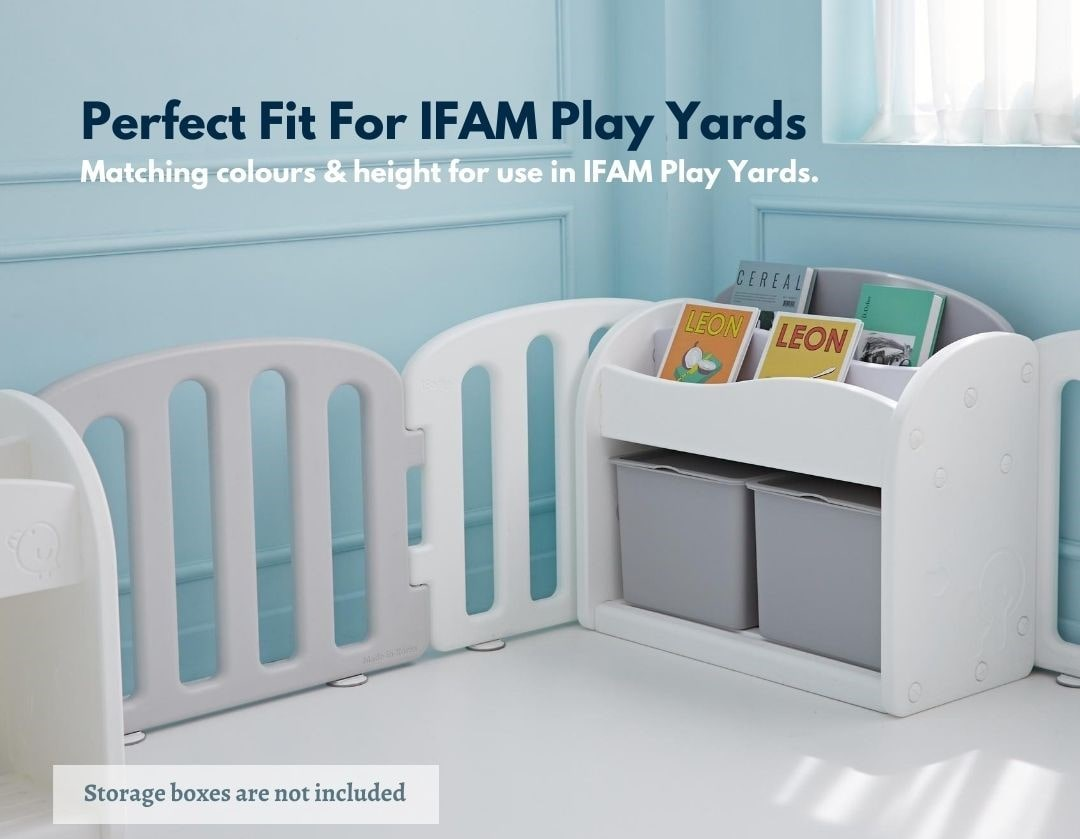 Easy Wave Bookshelf Perfect Fit with IFAM Play Yards