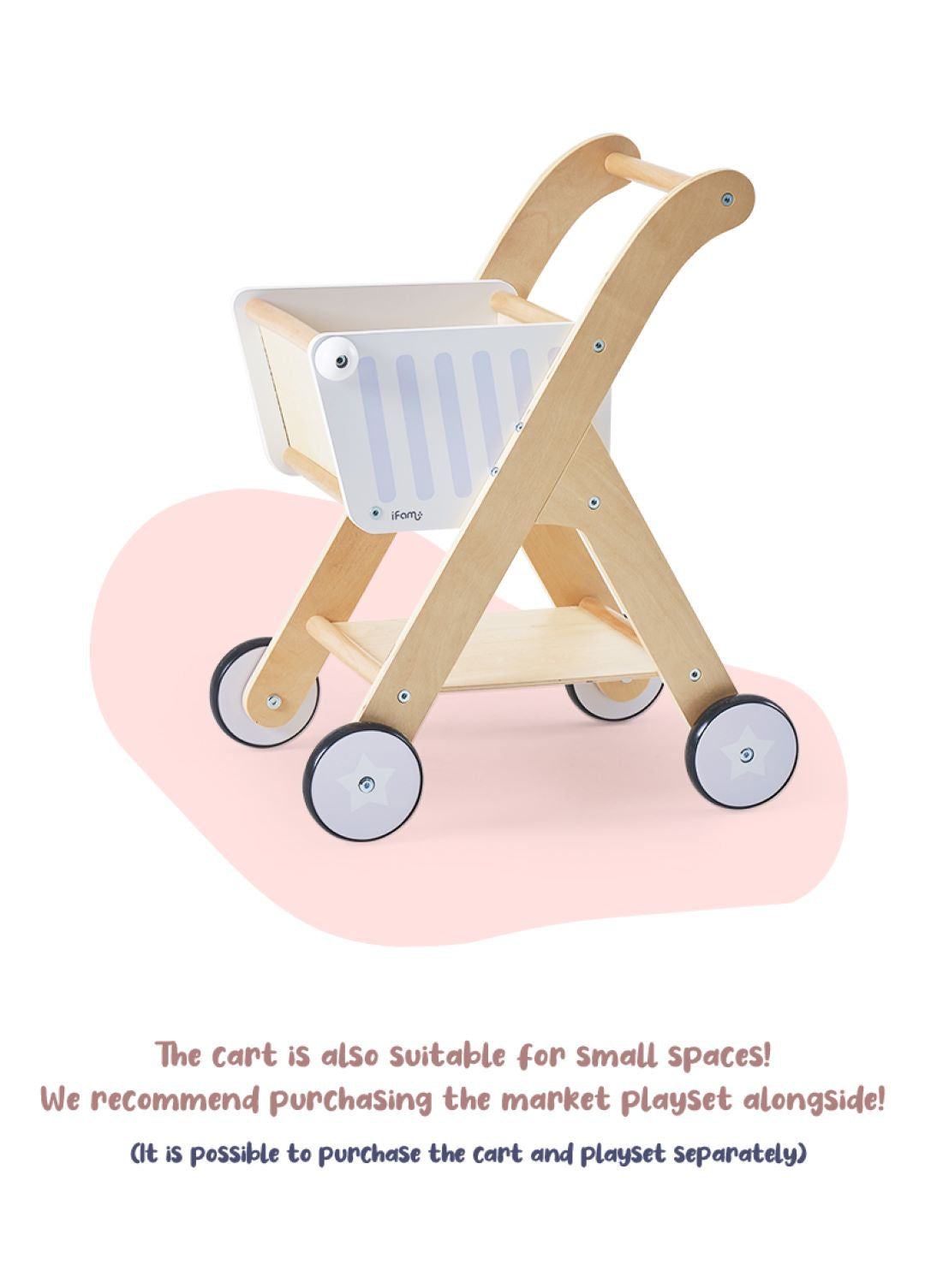Happy Shopping Cart perfect match with Happy Market Playset