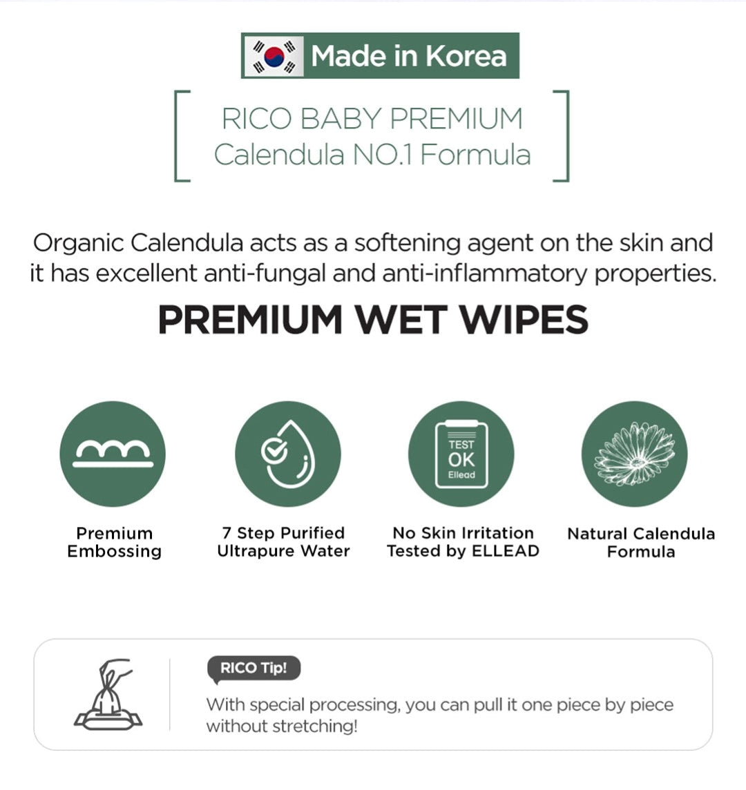 RICO Baby Premium Wet Wipes Highlights