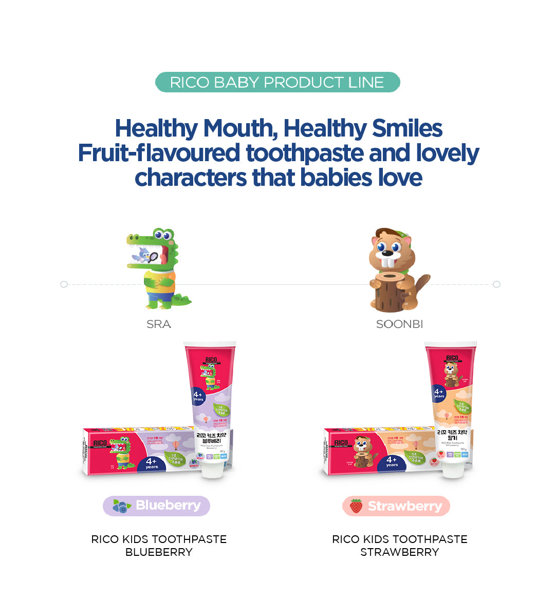 RICO Kids Toothpaste Sweet Fruit Flavour