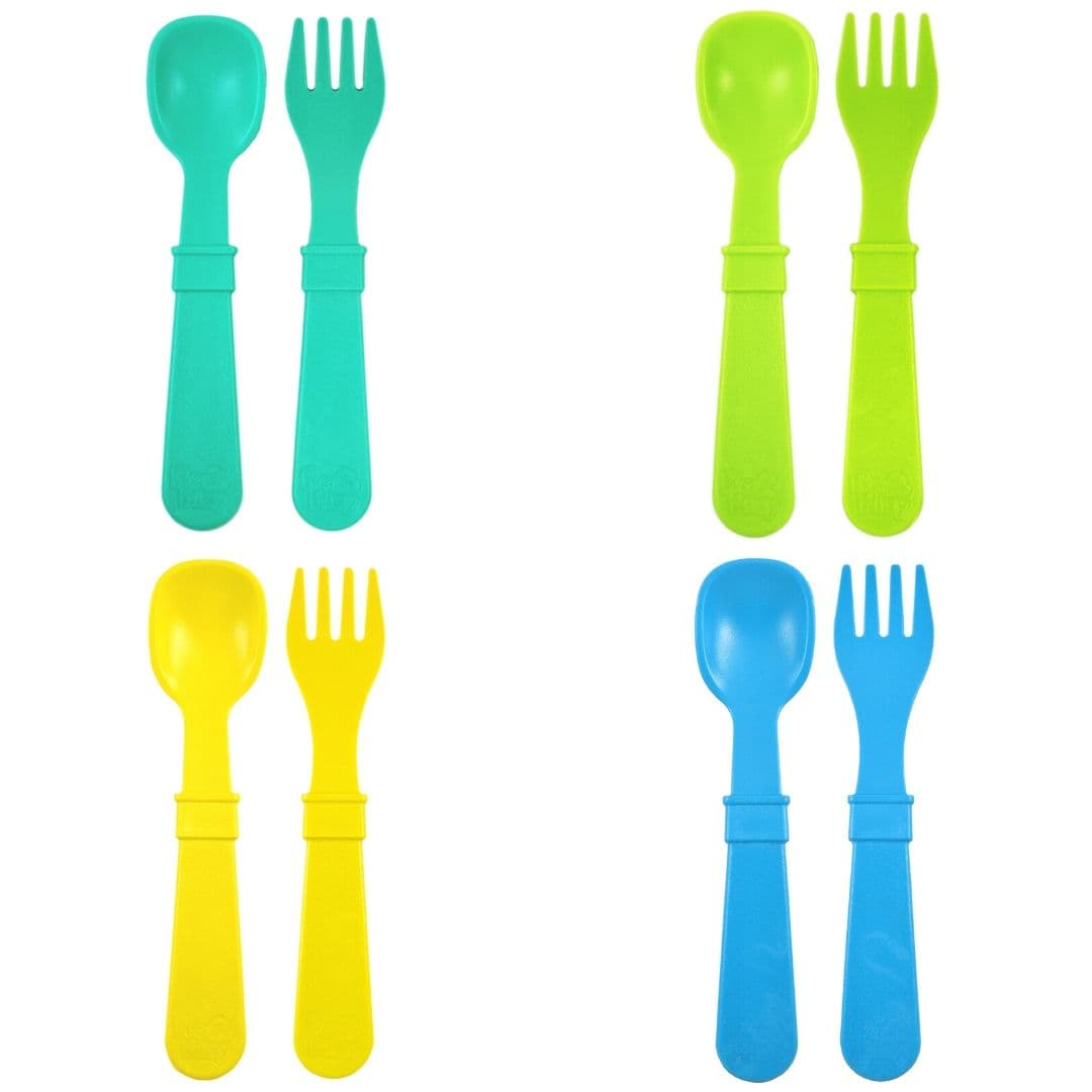 Re-Play Spoon & Fork Set Boy